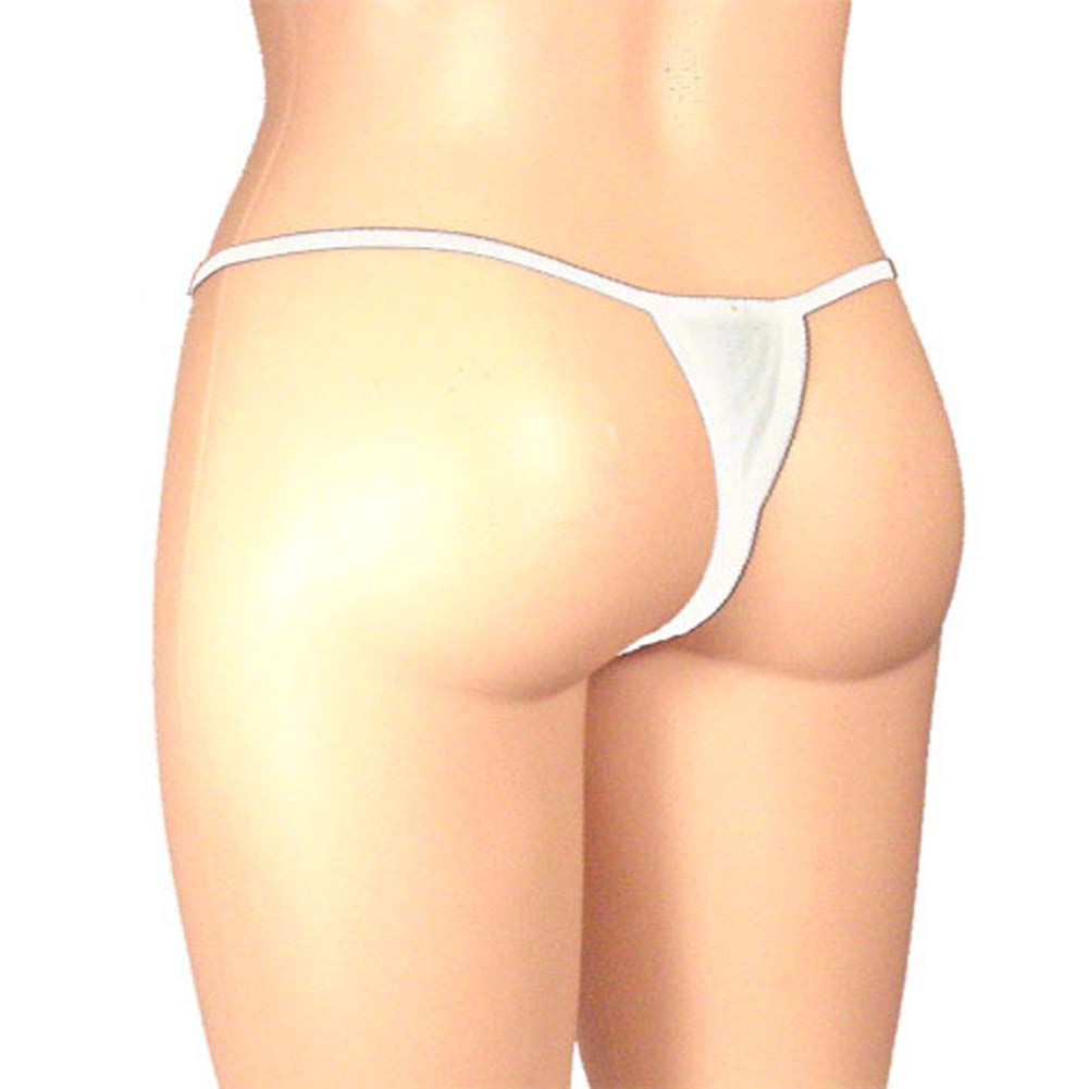 Sheer Butterfly Crotchless Panty White Plus Size - View #2