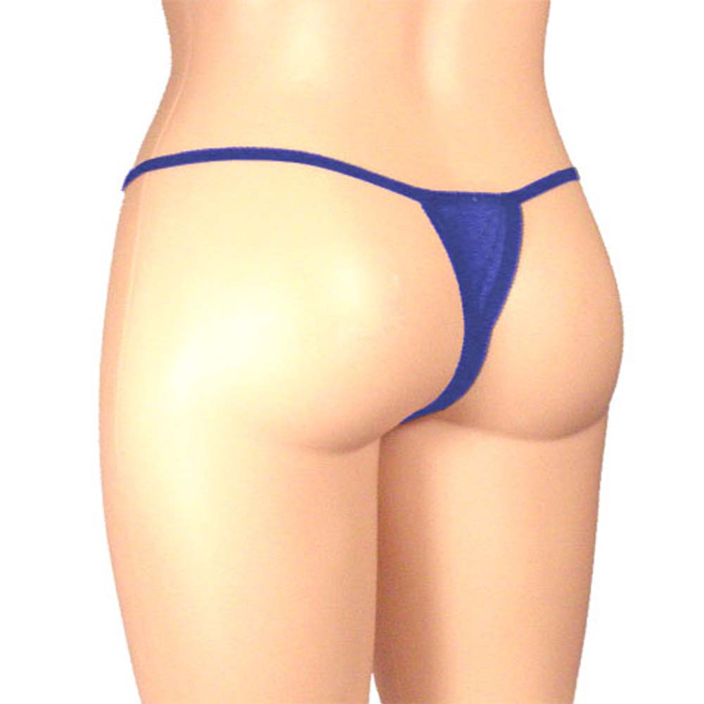 Sheer Butterfly Crotchless Panty Blue Plus Size - View #2