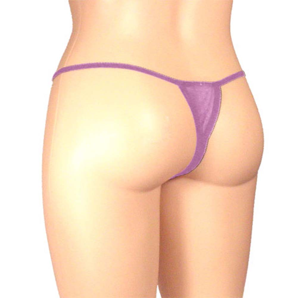 Sheer Butterfly Crotchless Panty Lavender Plus Size - View #2