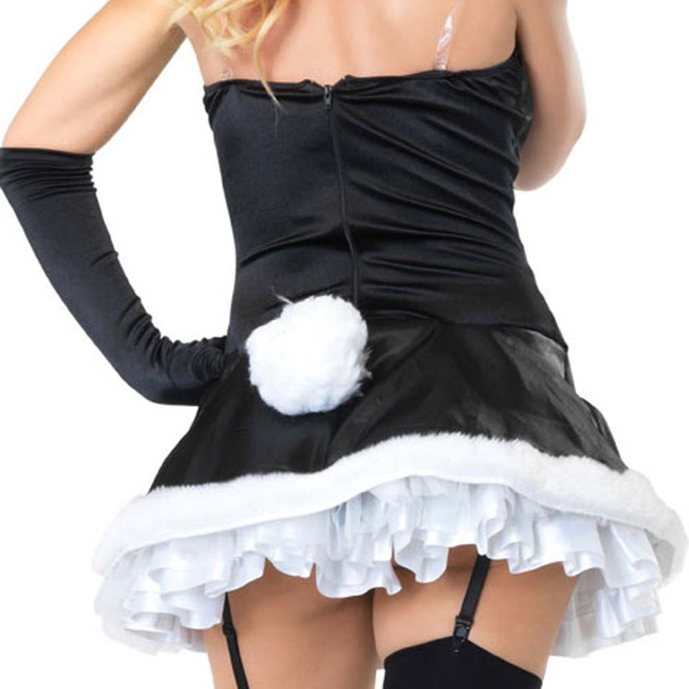 Leg Avenue Cottontail Cutie Costume Small Black/White - View #4
