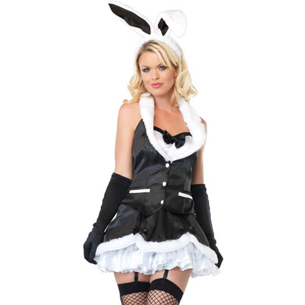 Leg Avenue Cottontail Cutie Costume Medium Black/White - View #1