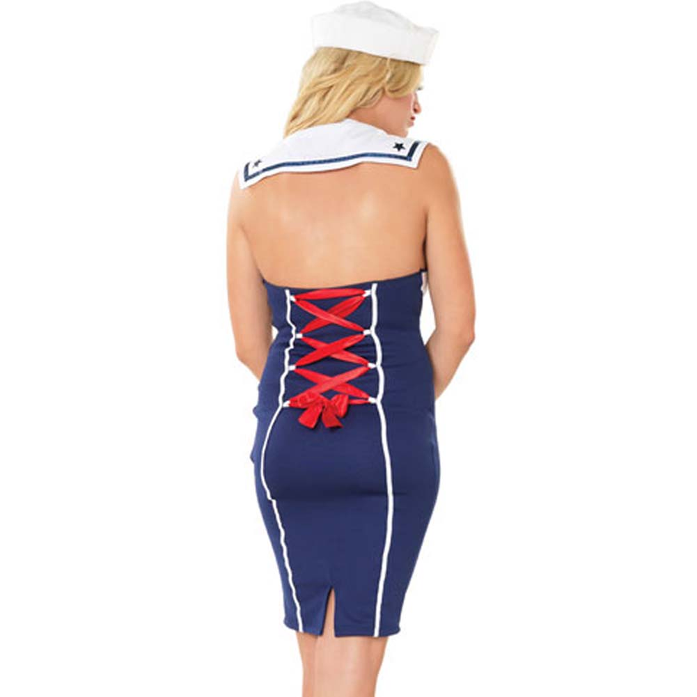 Ahoy There Hottie Costume by Leg Avenue Small/Medium Navy - View #2