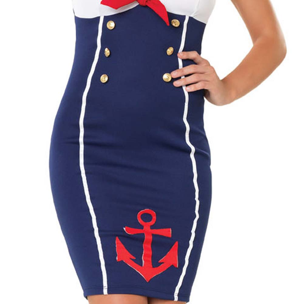 Ahoy There Hottie Costume by Leg Avenue Small/Medium Navy - View #4