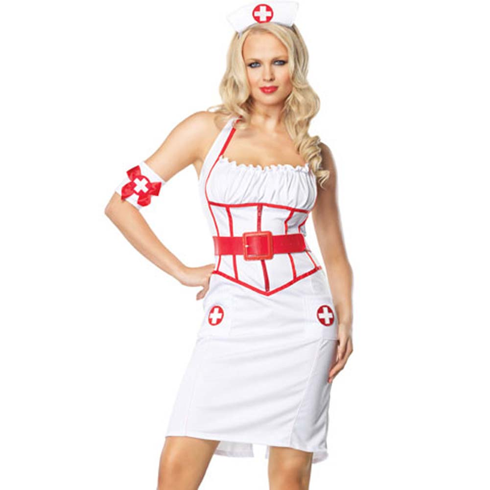 Leg Avenue Sexy Naughty Nurse Costume Extra Large - View #1