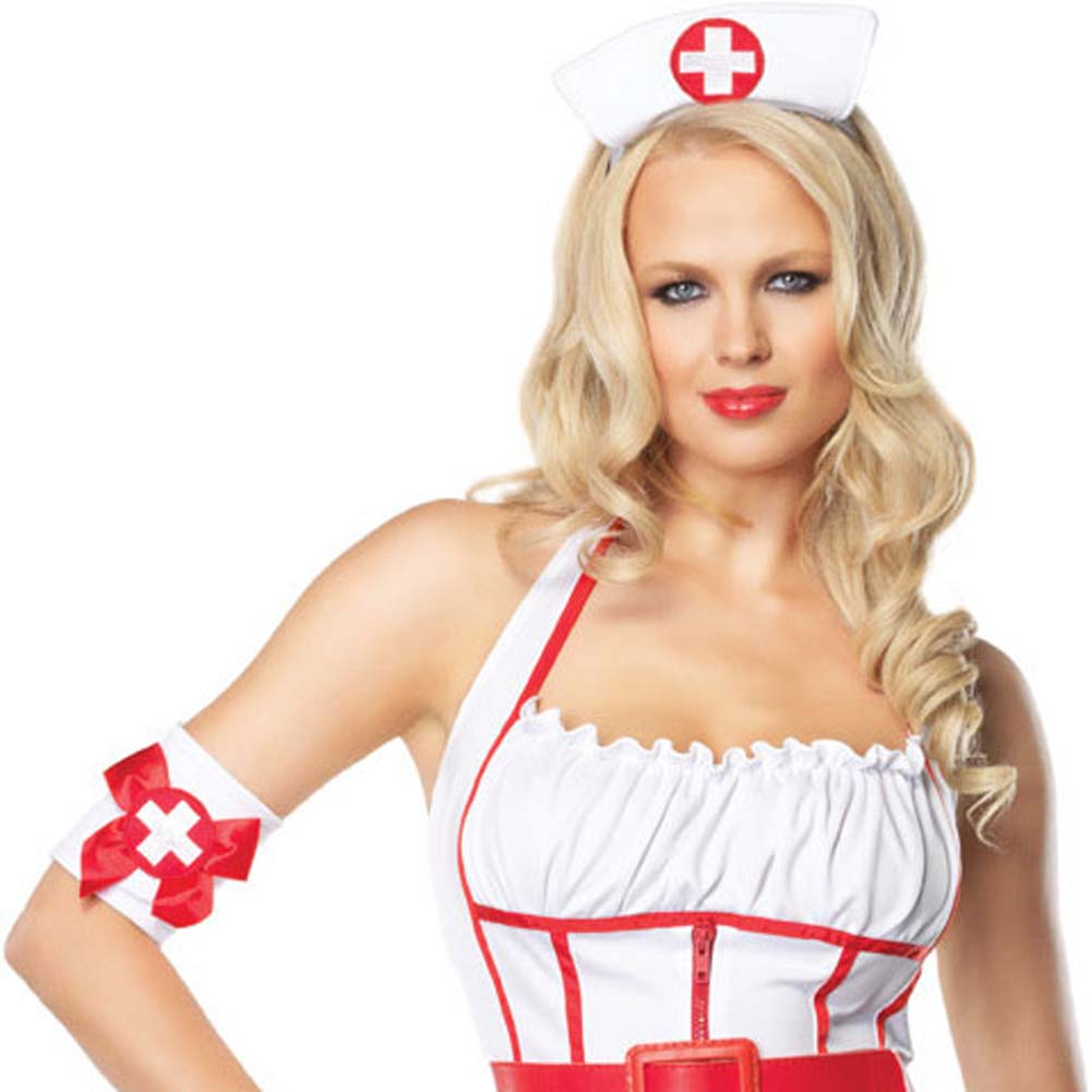 Leg Avenue Sexy Naughty Nurse Costume Extra Large - View #3