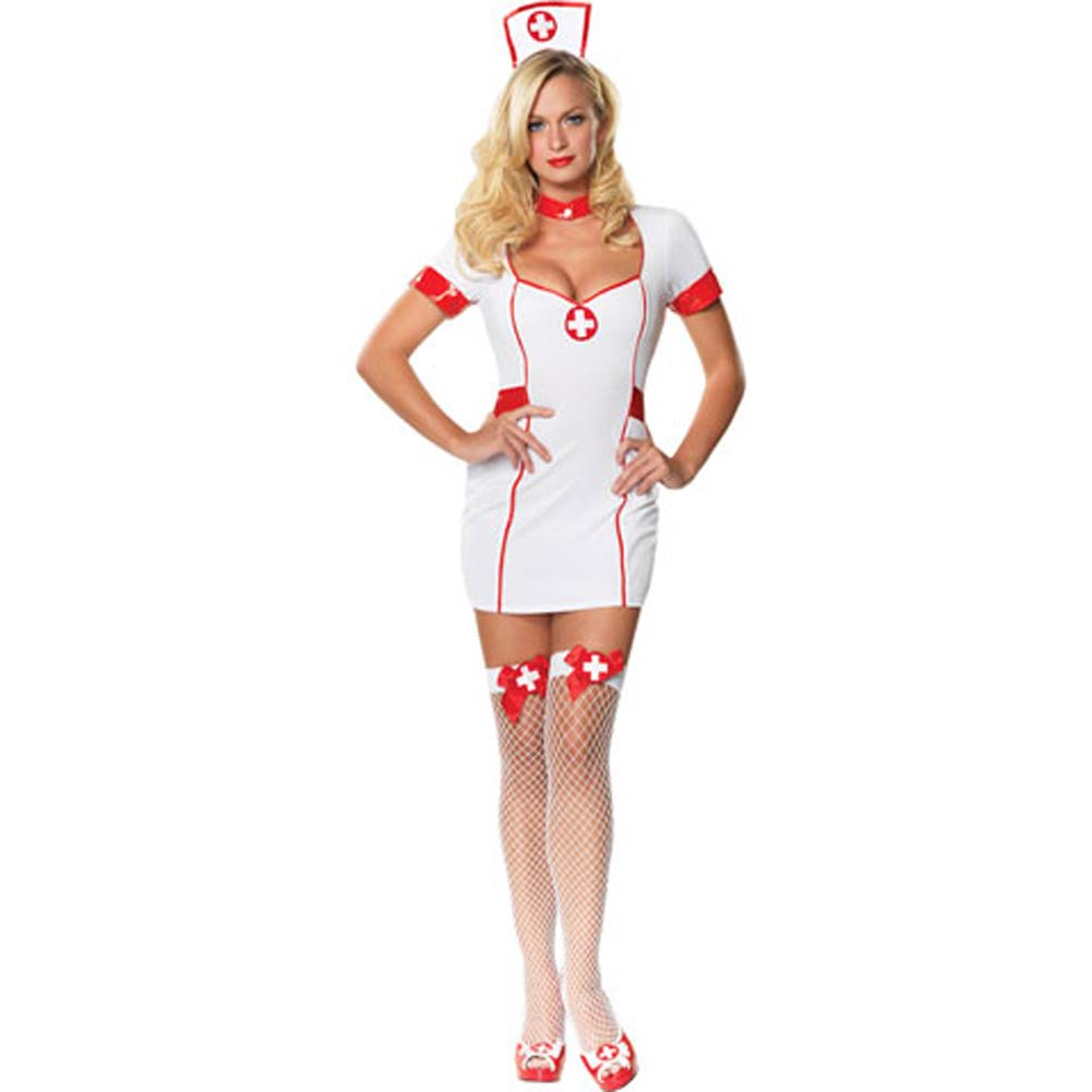 Private Nurse Costume Medium/Large White - View #2