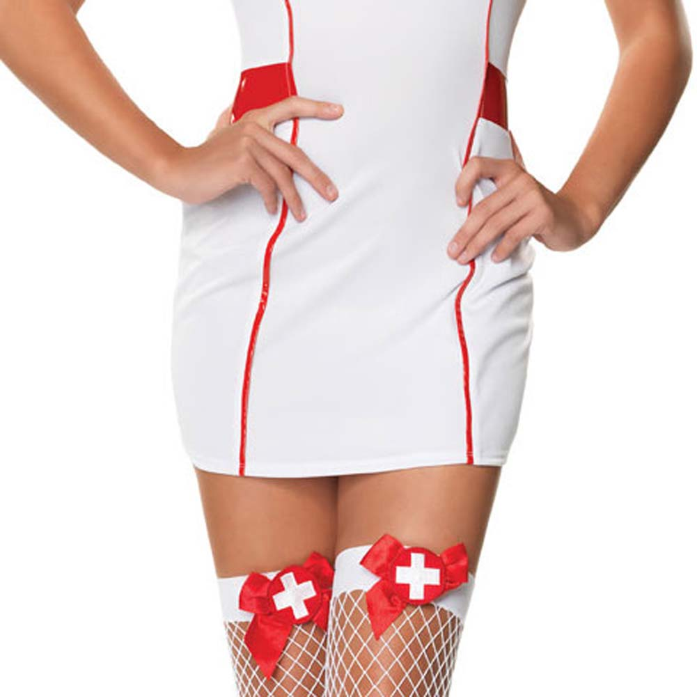 Private Nurse Costume Medium/Large White - View #4
