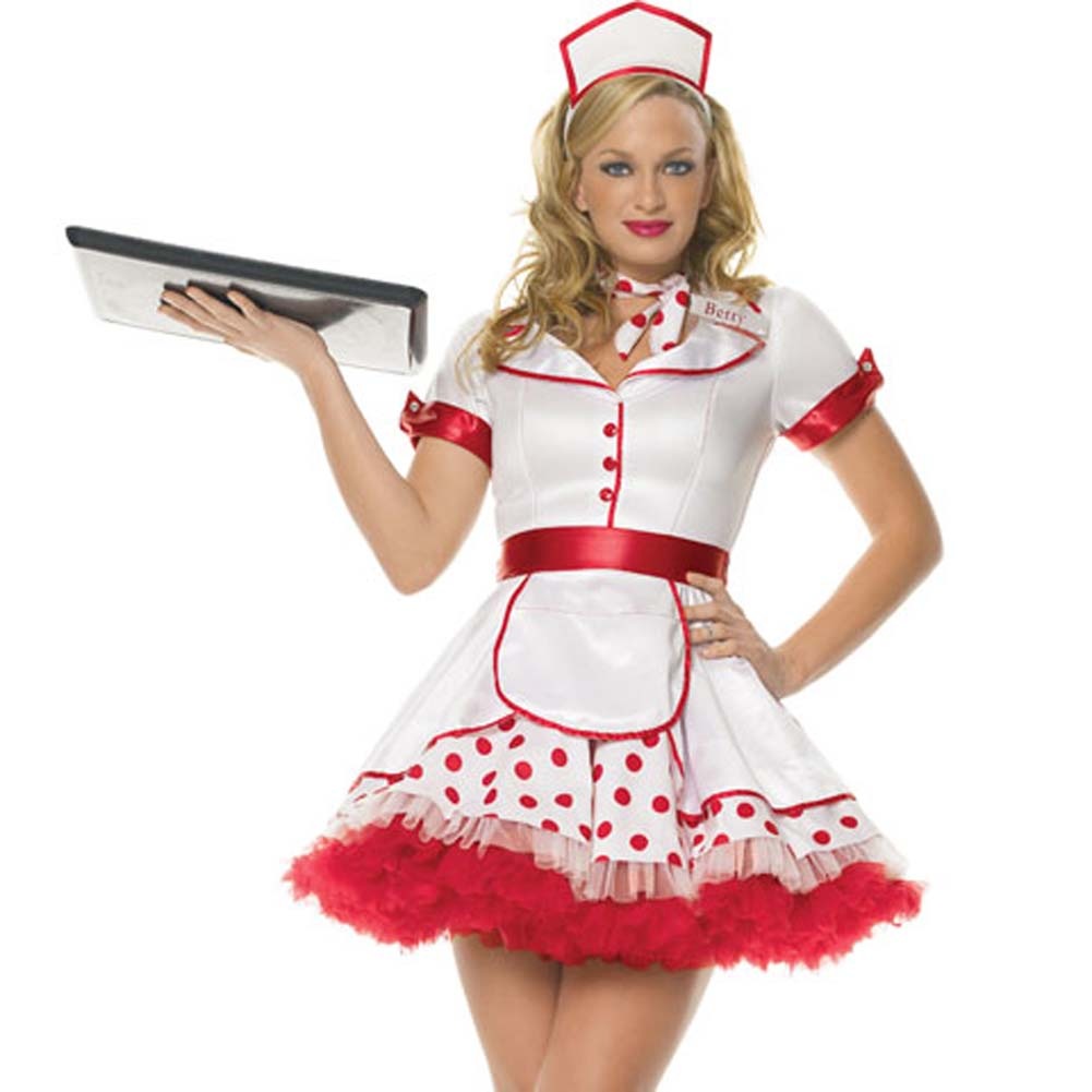 Diner Betty Costume Extra Small - View #1