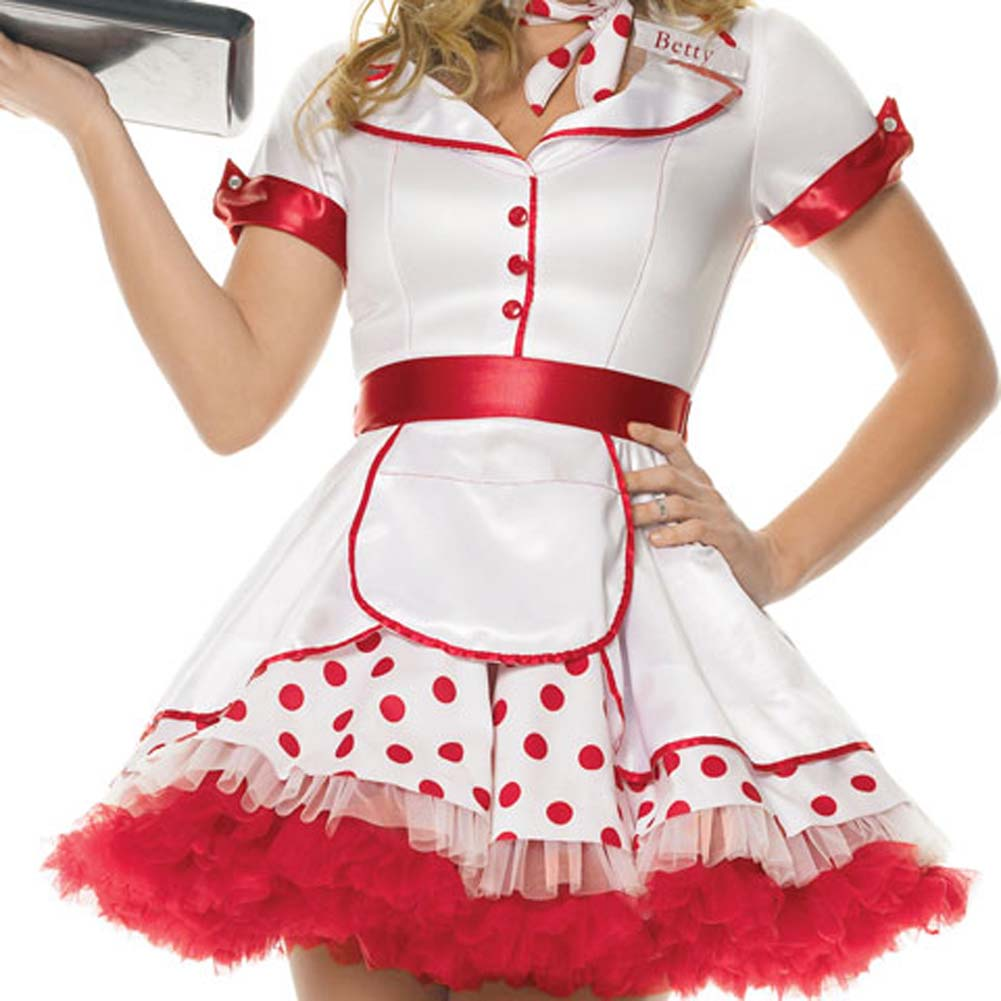 Diner Betty Costume Extra Small - View #3