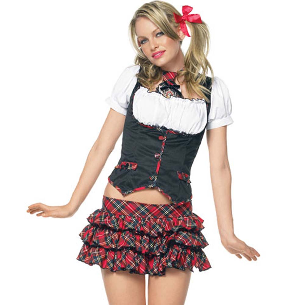 Lil Miss Naughty Schoolgirl Costume Large - View #1