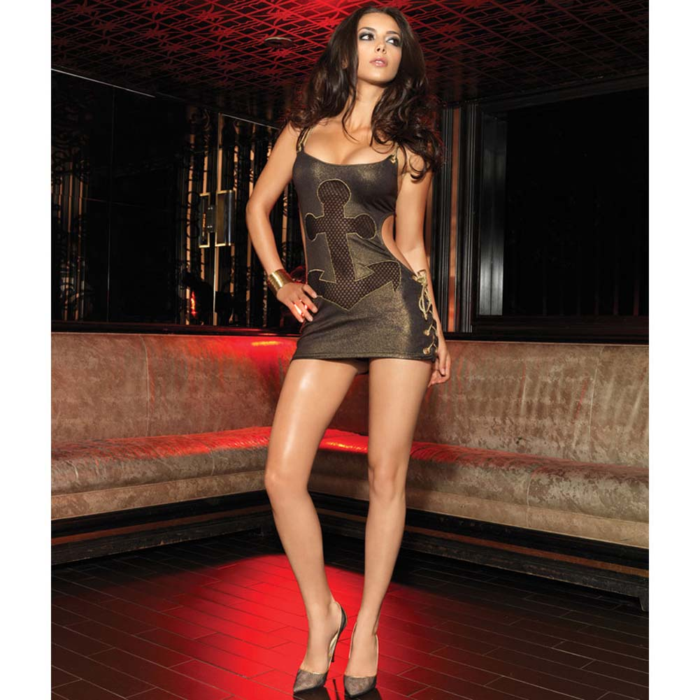Glimmering Gold Rope and Anchor Chemise Small/Medium - View #3