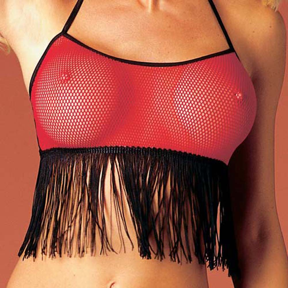 Fringe Top with G-String - View #1