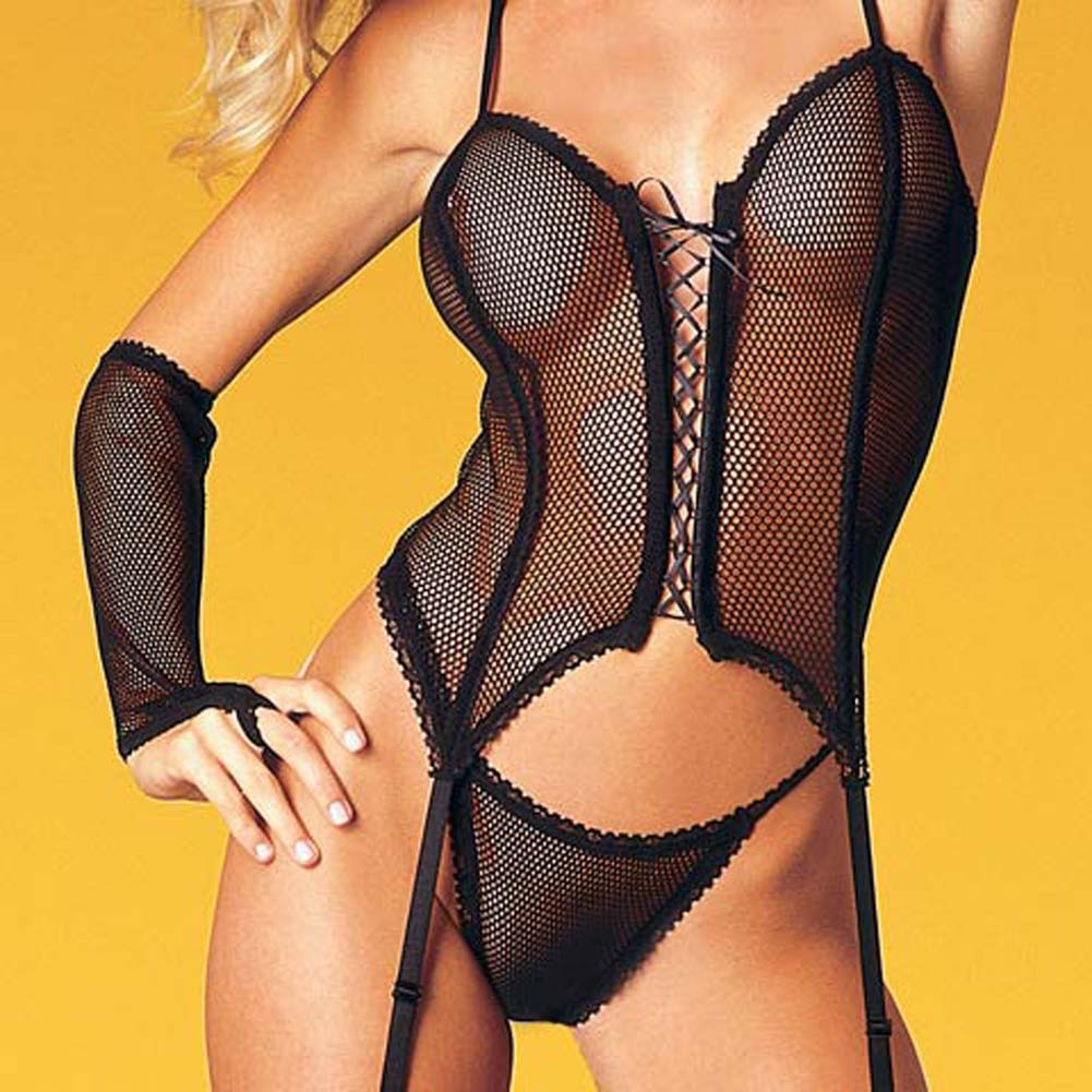 Fishnet Bustier 4 Pc. Set - View #1