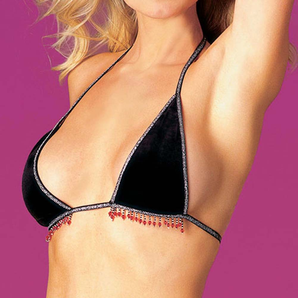Top with Beaded Trim and Thong - View #1