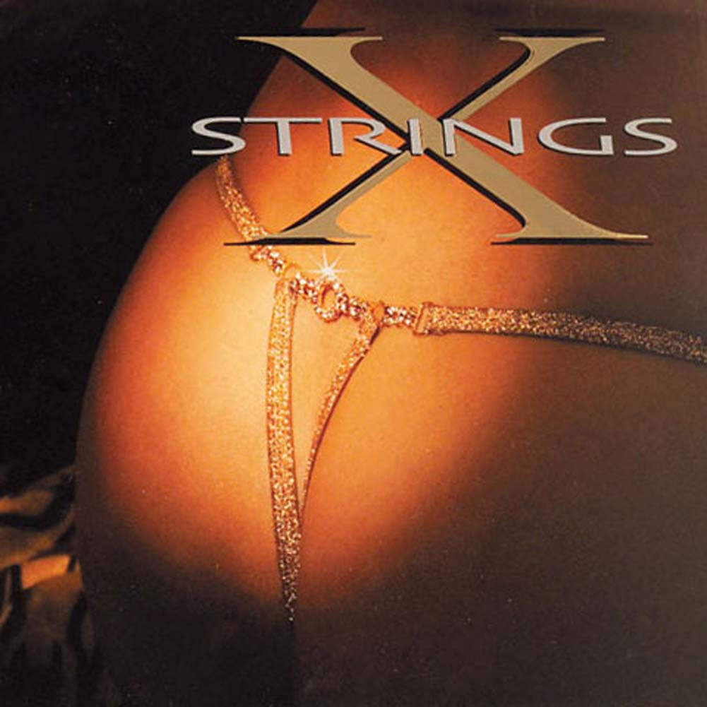 G-String with Rhinestone in Gold - View #1