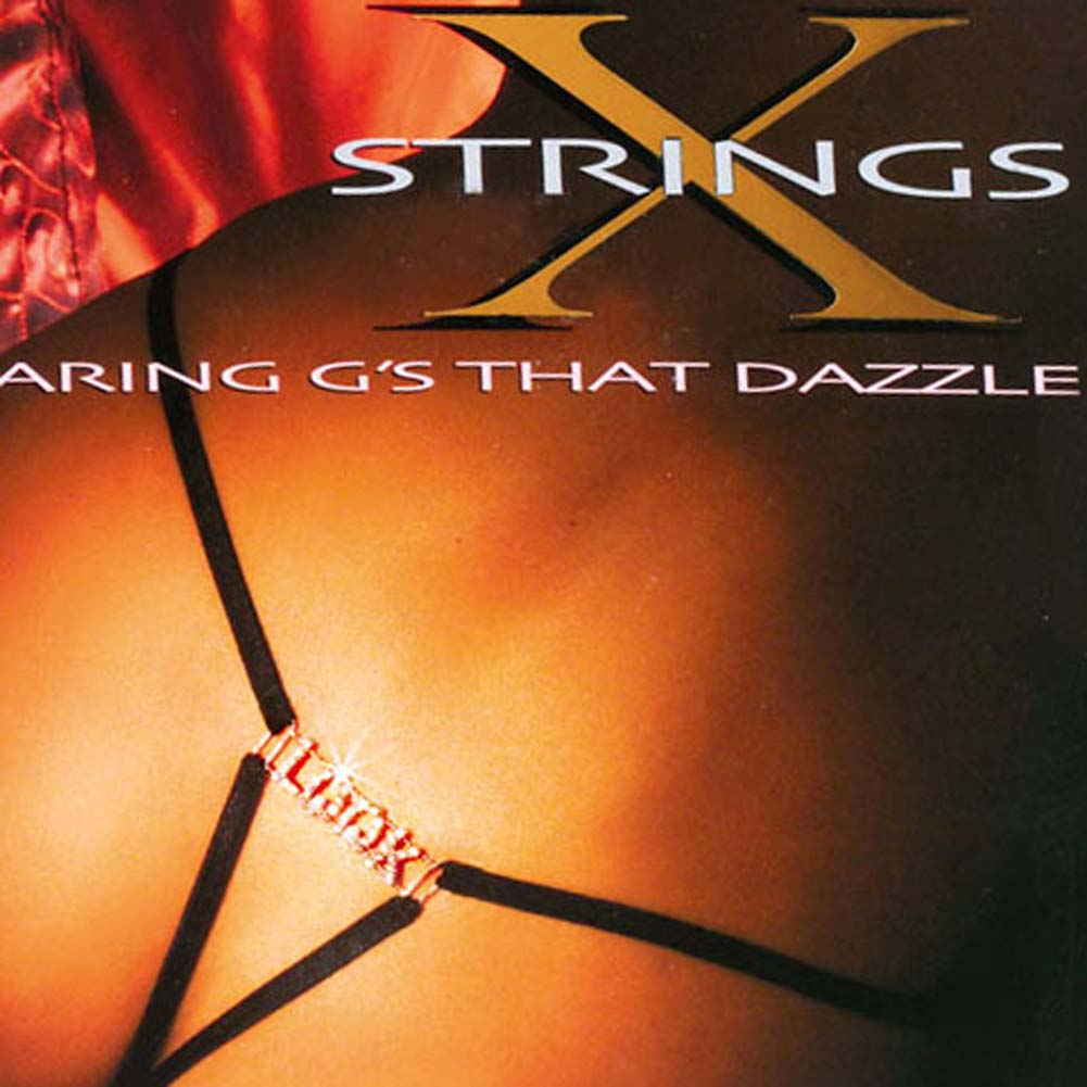 G-String with LOOK Rhinestone Logo - View #1