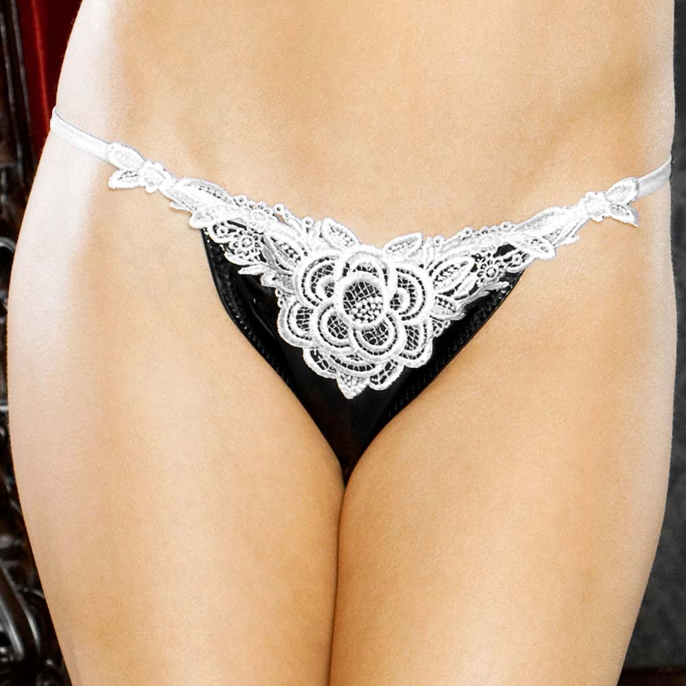 I Do Secretly Slit Thong with Veil Plus Size 1X - View #4