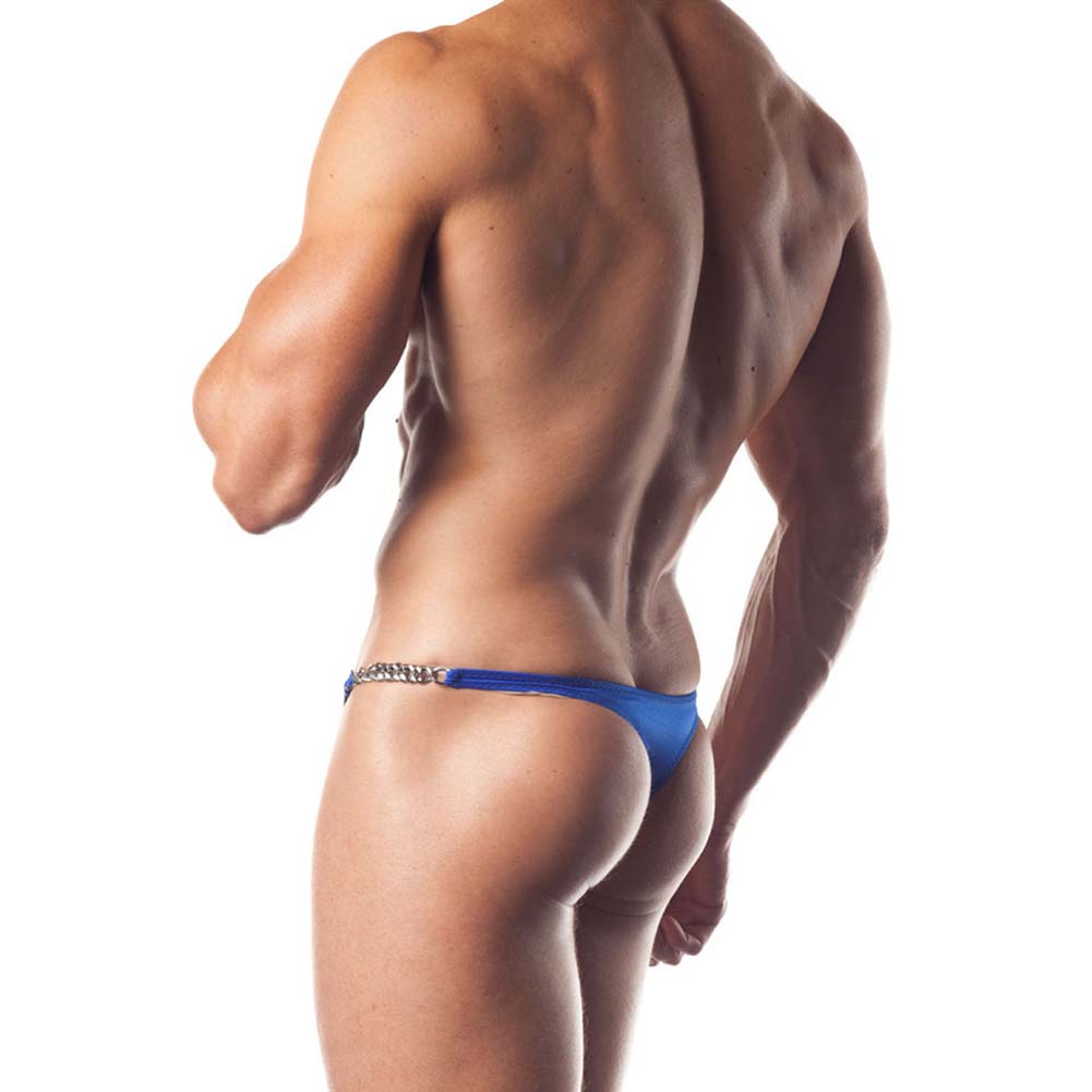 Extreme Series Chain Link Thong One Size Blue - View #2