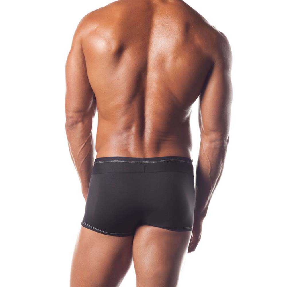 At Your Service Mens Tuxedo Shorts Black - View #2