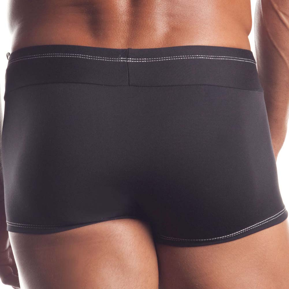 At Your Service Mens Tuxedo Shorts Black - View #4