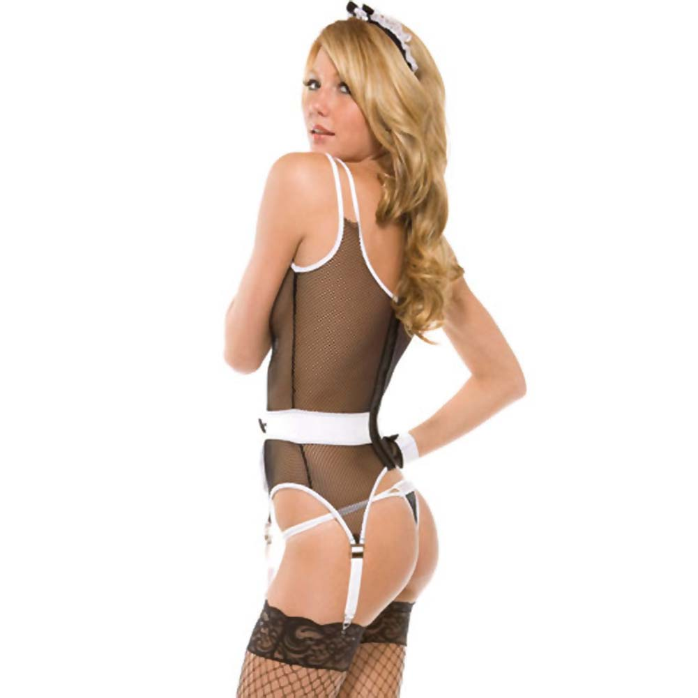 Forplay Lingerie Maid to Tease Bedroom Set One Size Black - View #4