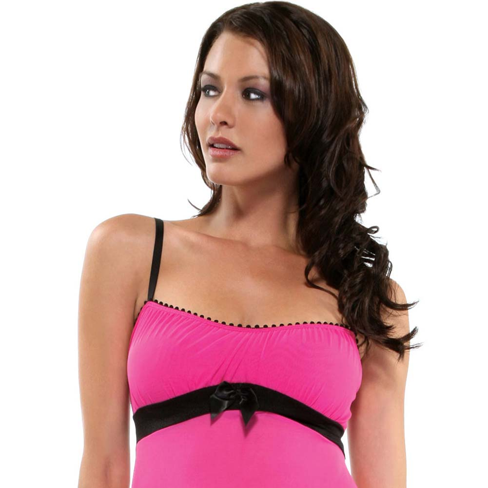 Foreplay Lingerie Sweetie Babydoll and Panty Set One Size Hot Pink - View #3