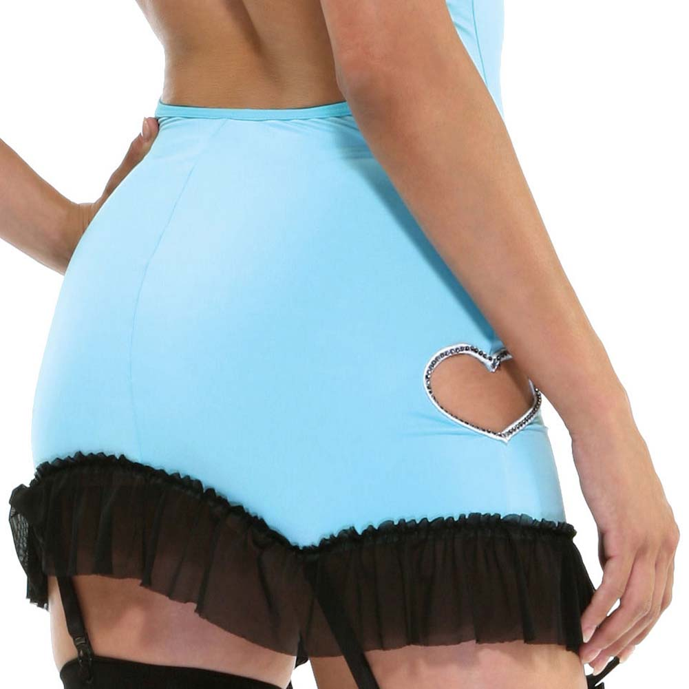 Heartful Panty and Hosiery with Stone Heart Dress Turquoise - View #4