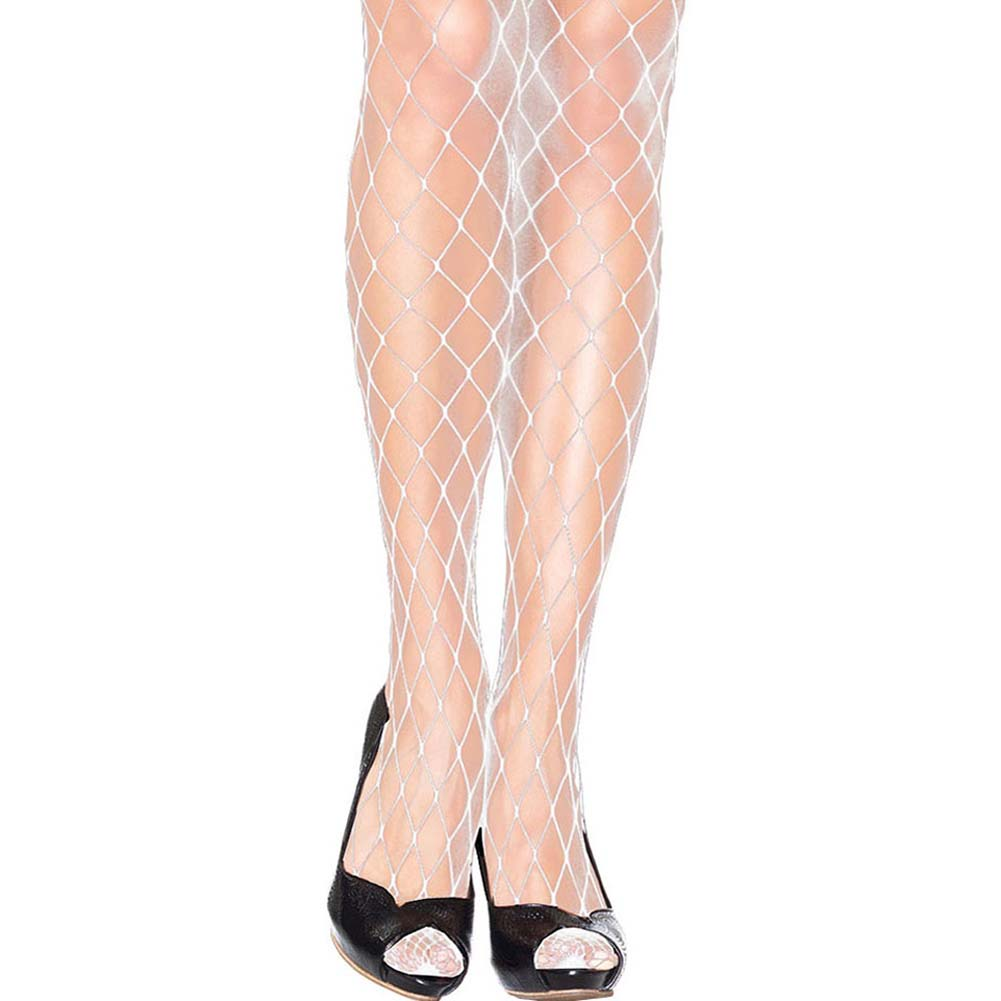 Forplay Fashionable Fence Net Pantyhose One Size Bridal White - View #2