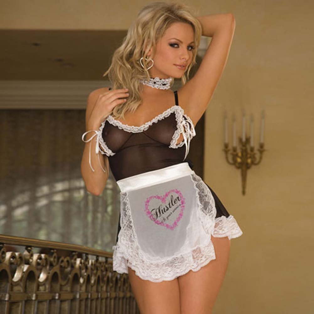 Sexy French Maid Bedroom Costume - View #1
