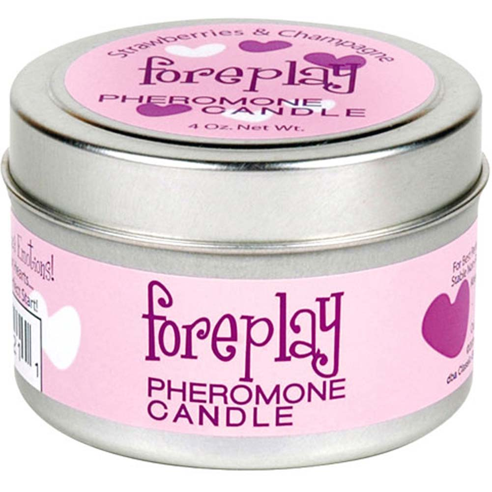 Foreplay Pheromone Candle Strawberries and Champagne 4 Oz. - View #1
