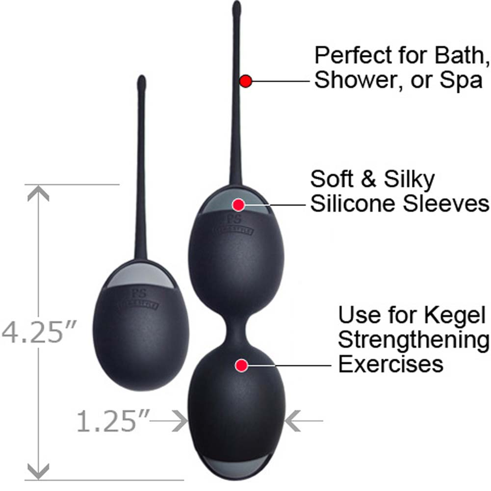 Velvet Plush Silicone Kegel Trainer Kit Black - View #1