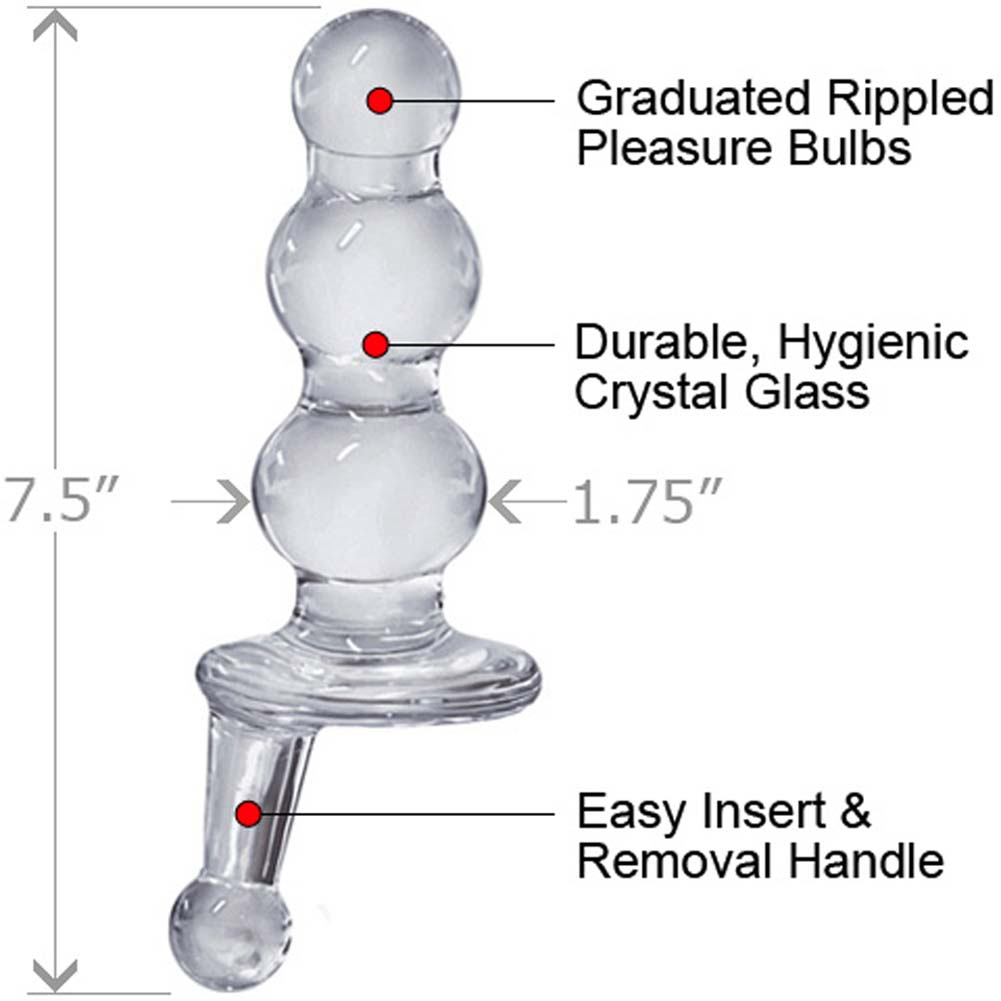 "ButtMans Viewable Glass Butt Plug 5.25"" Spheres - View #1"