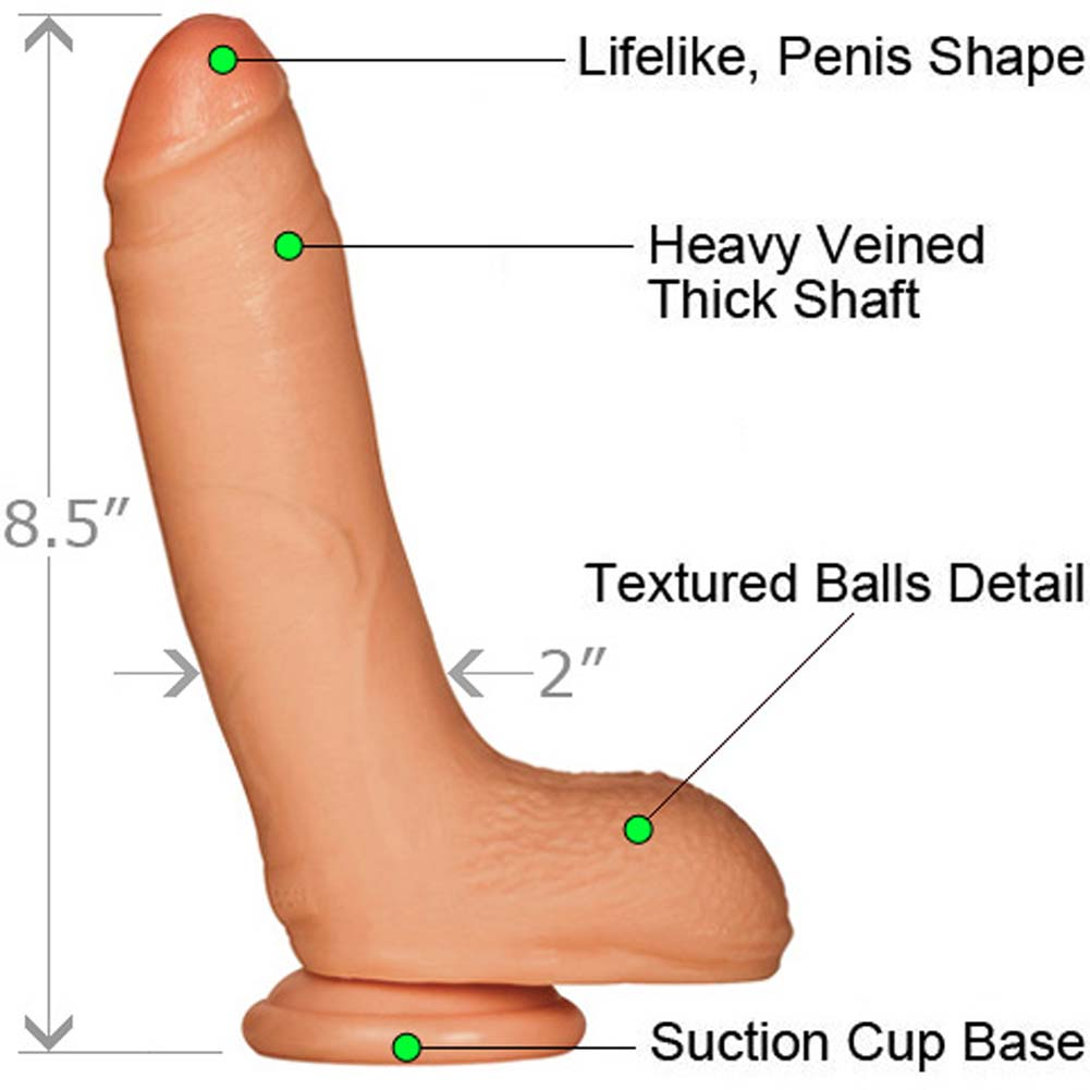 "Falcon Erik Rhodes Supercock with Balls 8.5"" Natural - View #1"