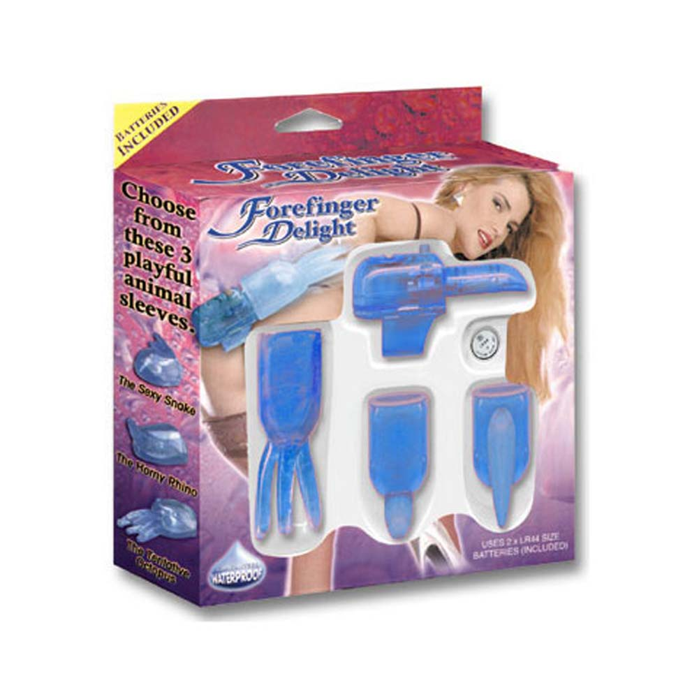 Forefinger Delight 4 Blue Pieces Kit with Waterproof Vibe - View #3