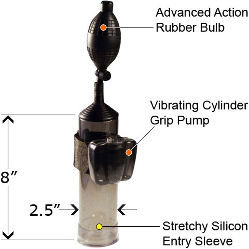 Silicone Sleeve Cylinder Grip Action Vibrating Super Pump - View #1