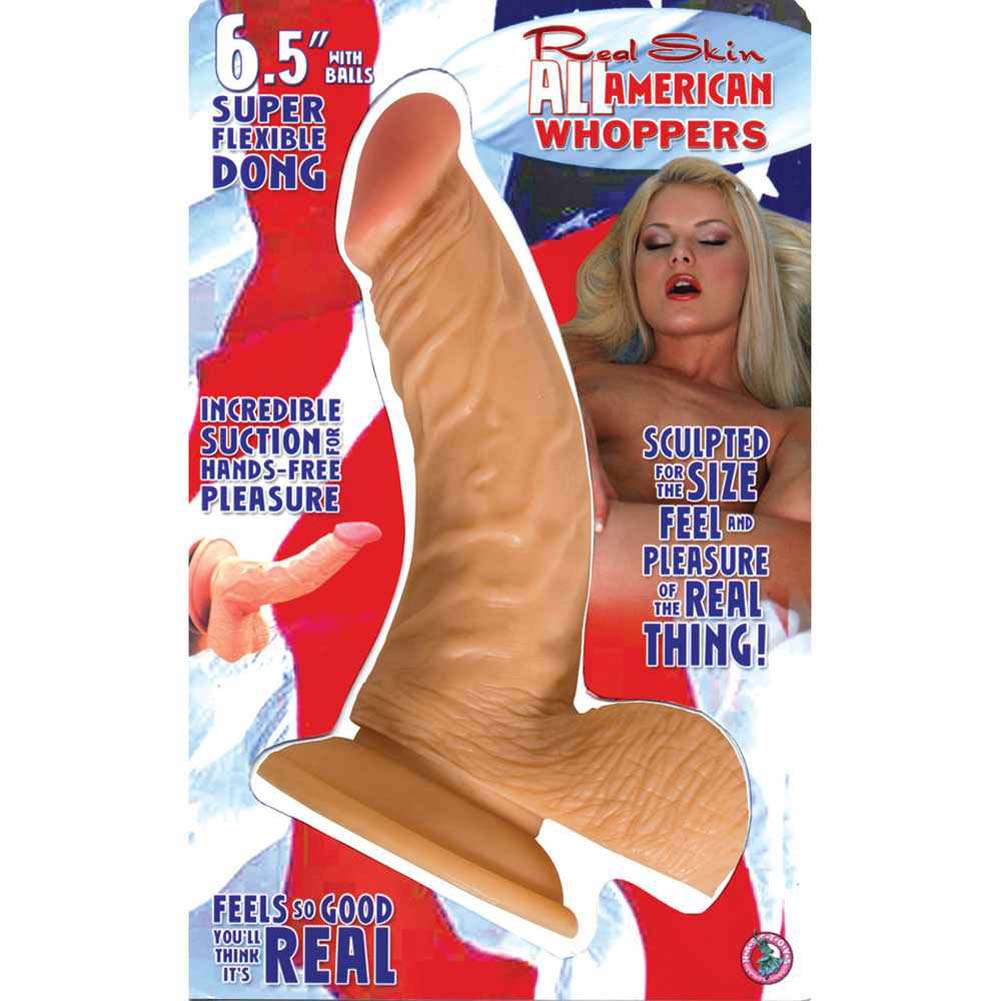 "RealSkin All American Whoppers Flexible Ballsy Dong 6.5"" - View #3"