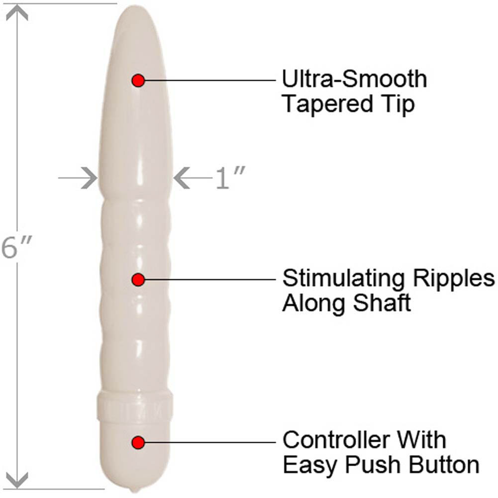 "Polished Smoothie Waterproof Personal Massager 6"" White - View #1"