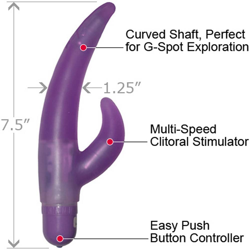 "Double Vibrations G-Spot Jelly Vibe 7.5"" Purple - View #1"