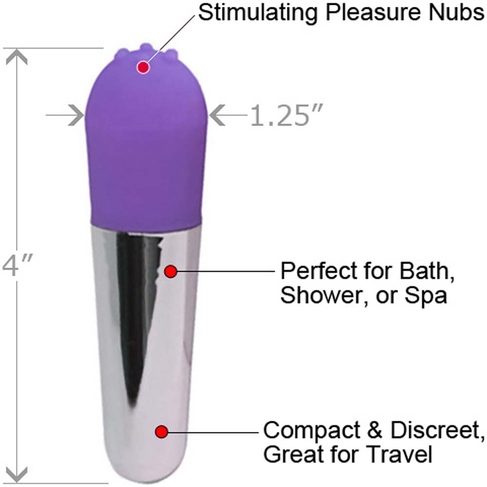 "Velvet Kiss Mini iPop Intimate Female Vibrator 4"" Sexy Purple - View #1"