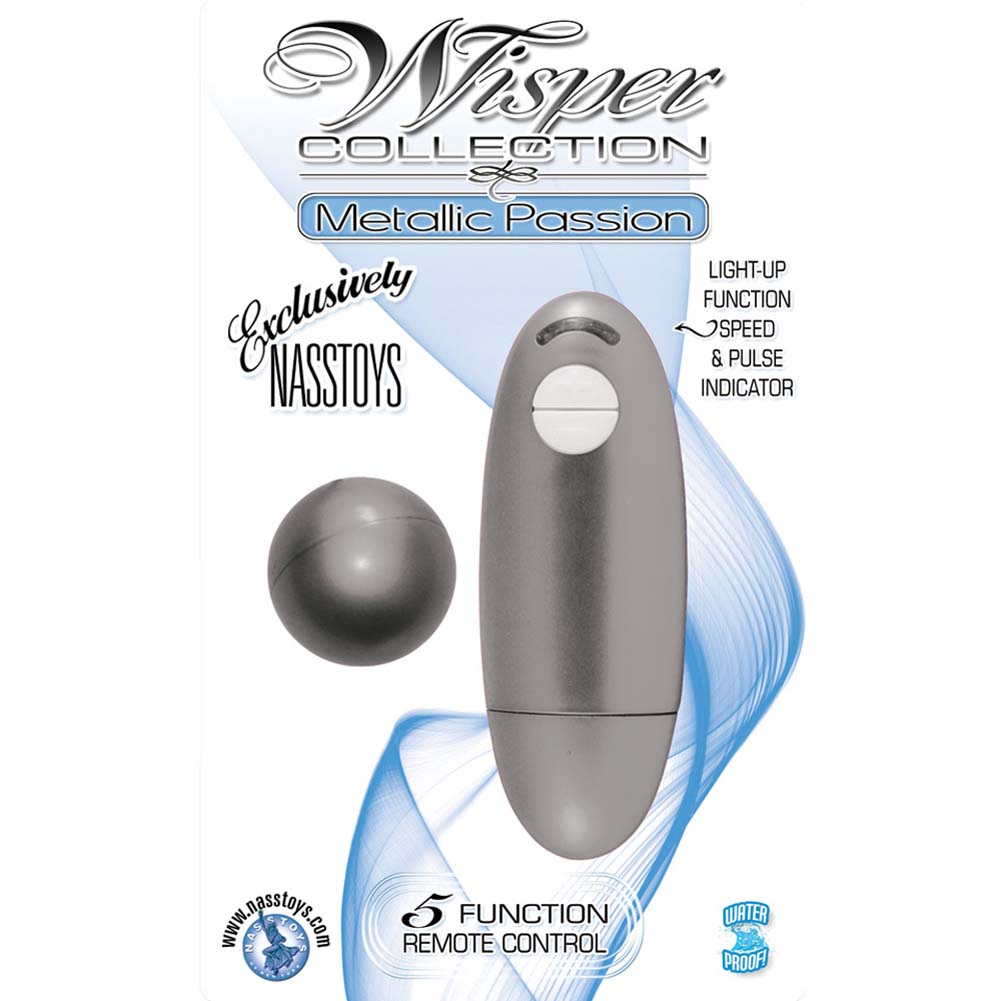 Wisper Collection Metallic Passion Vibrating Sphere Silver - View #3