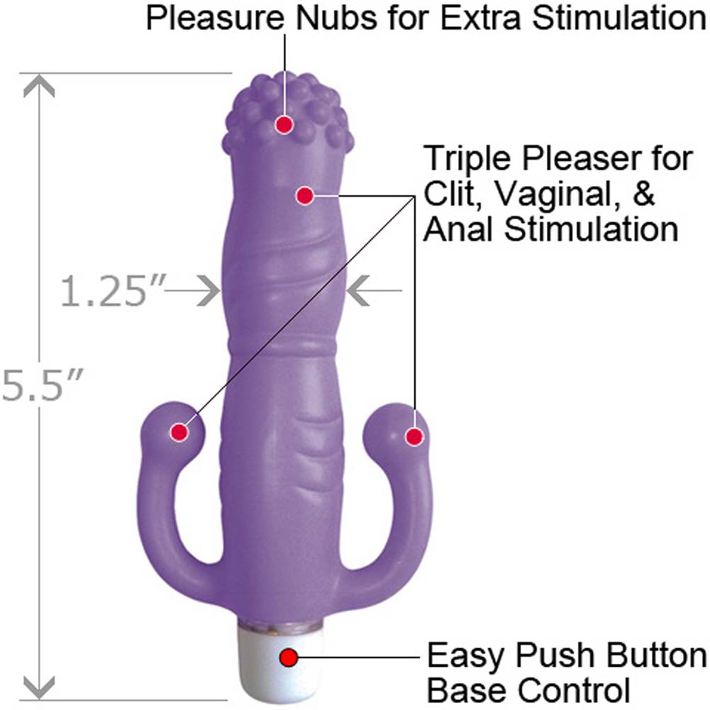 "Velvet Kiss iTease Waterproof Personal Vibrator 5.5"" Lavender - View #1"