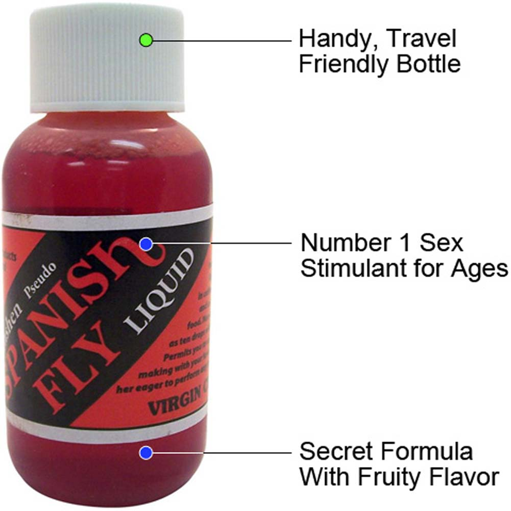 Spanish Fly Liquid 1 Fl.Oz 30 mL Virgin Cherry Flavor - View #1