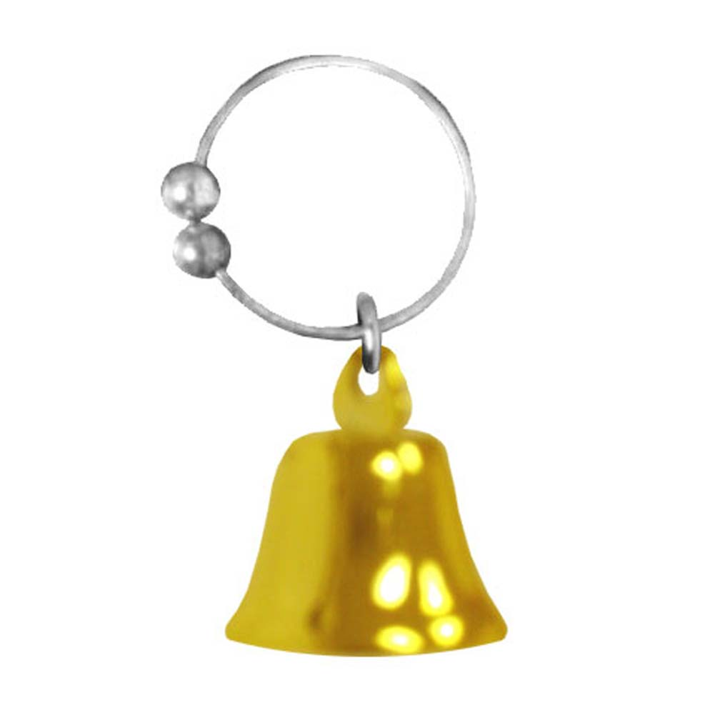 Navel Novelties Belly Button Ring with Gold Bell Dangle - View #2