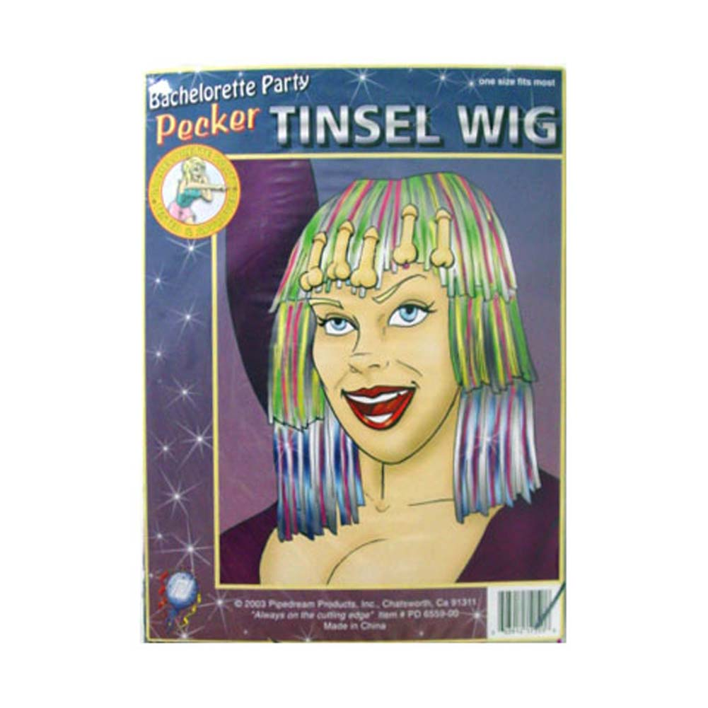 Pecker Tinsel Wig - View #1