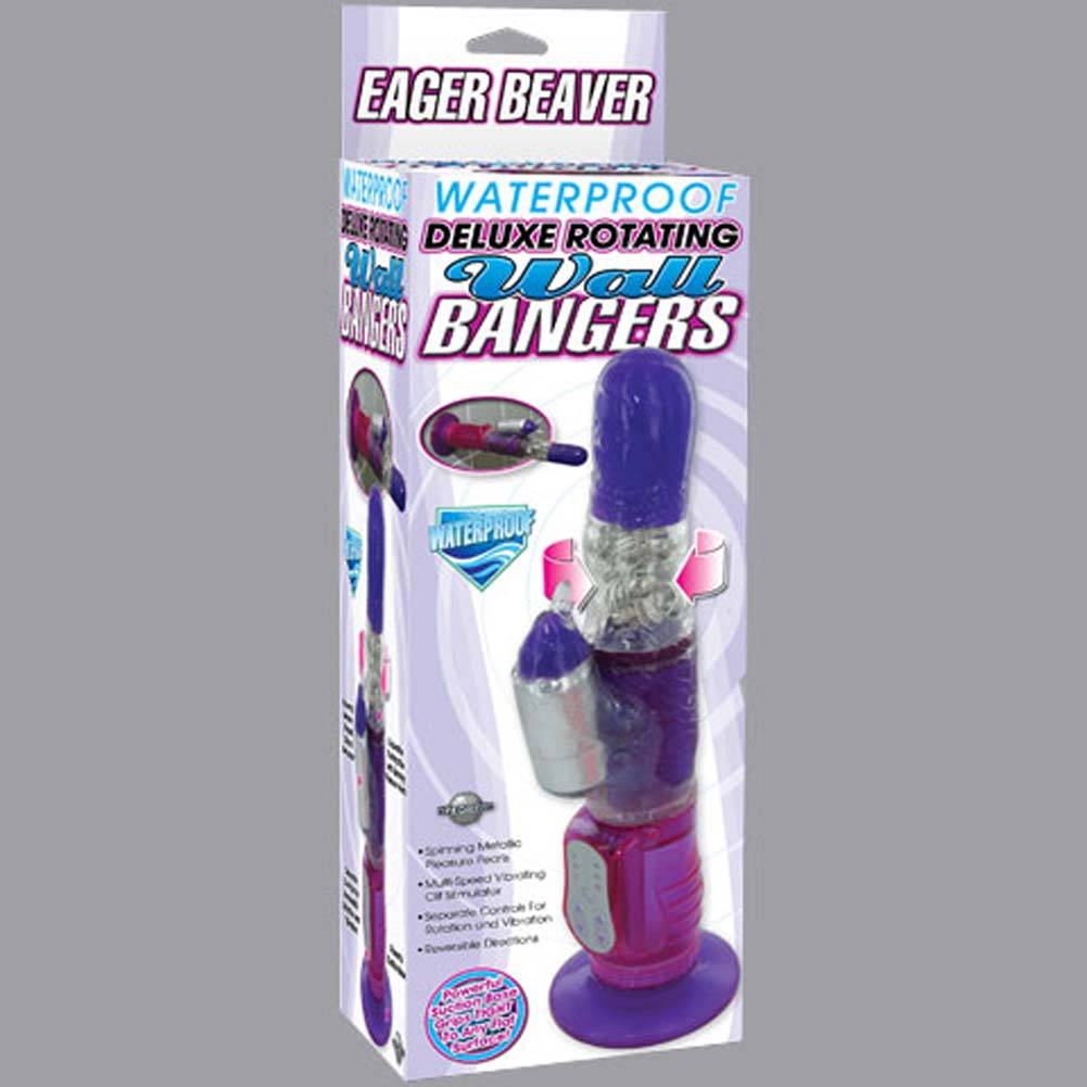 Waterproof Deluxe Rotating Wall Bangers Beaver Jelly Vibe - View #1