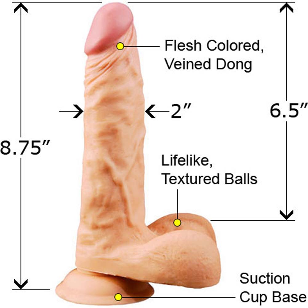 "Extreme Toyz White Boy Beefy Cock 8.75"" Natural - View #1"