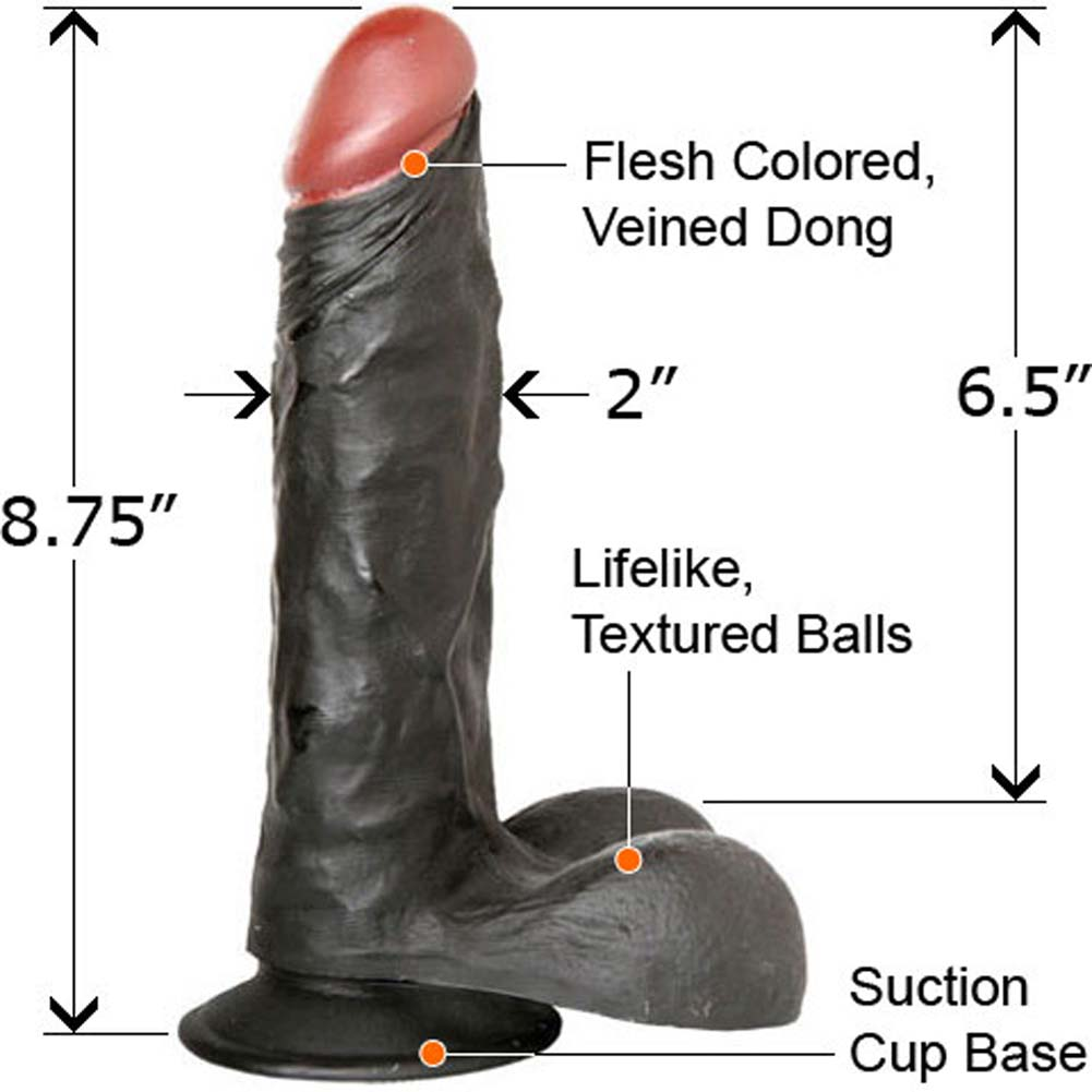 "Extreme Toyz Natural Cock 8.75"" Chocolate Dream - View #2"