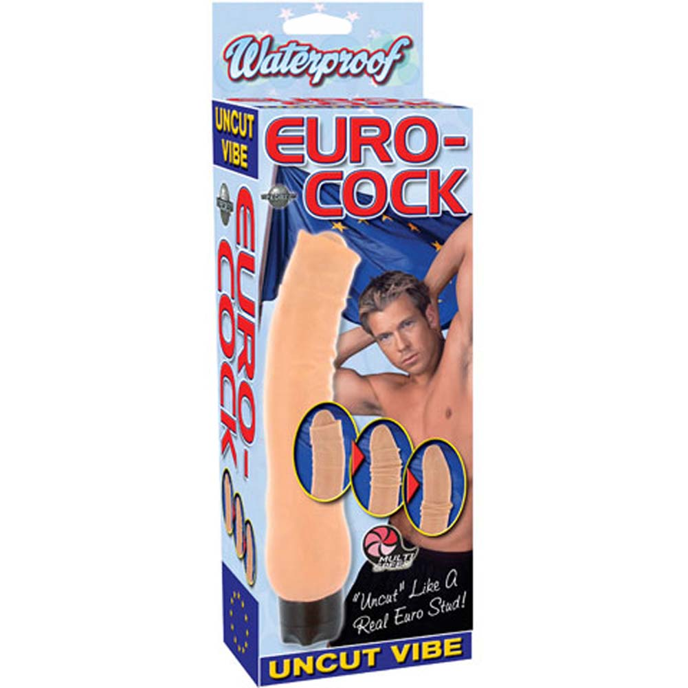 Euro Cock Uncut Waterproof Vibe 9.75 In. - View #1