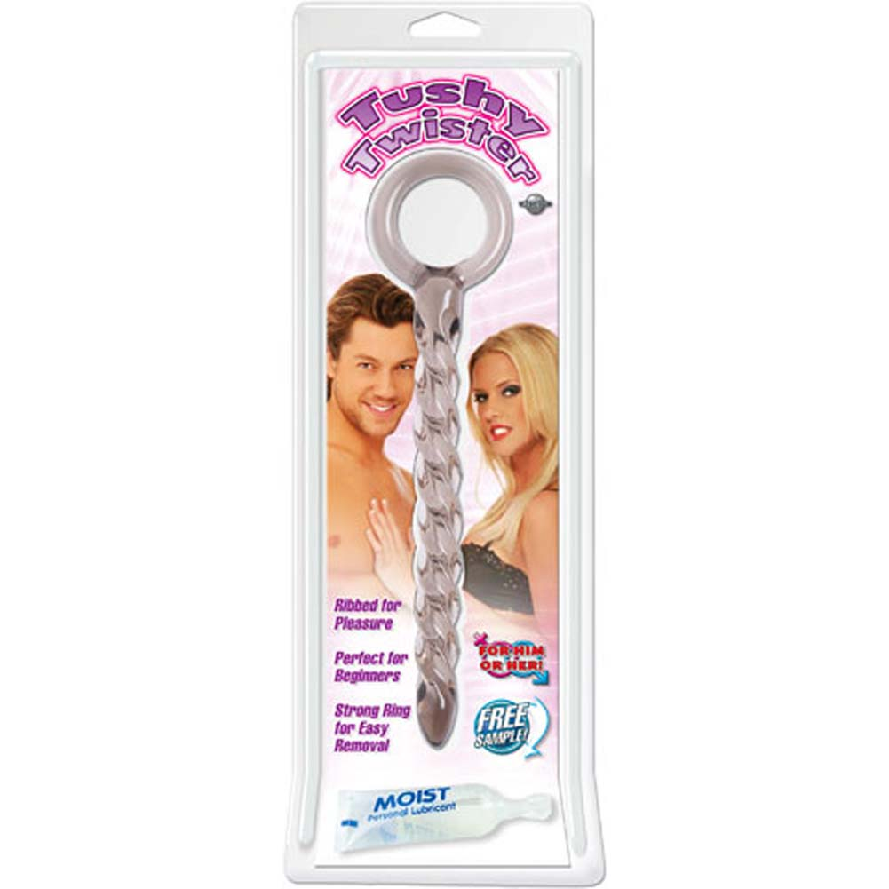 Tushy Twister Jelly Butt Plug Smoke 8.75 In. - View #1