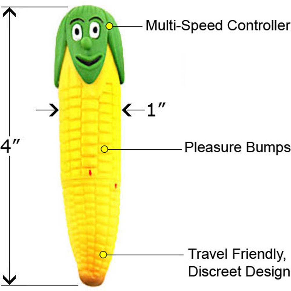 "Produce Pals Horny Corn Mini Vibe 4"" - View #1"